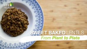 Sweet Baked Lentils