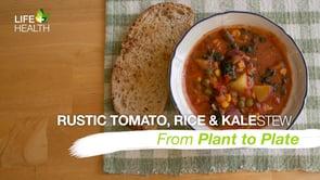 Rustic Tomato, Rice & Kale Stew
