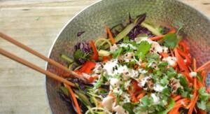 Raw Recipes: Thai Crunch Noodle Bowl | Sesame Ginger Dressing