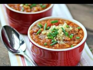 Red Lentil Chili Recipe - Slow Cooker or Pressure Cooker!