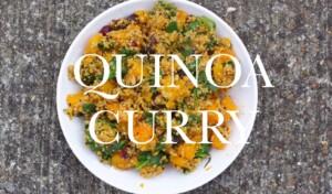 VEGAN QUINOA CURRY - super easy, 30min fat & gluten free recipe