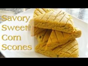 Savory Sweet Corn Scones | How To make Gluten-free Vegan Scones w/ Tracy | Korenn Rachelle